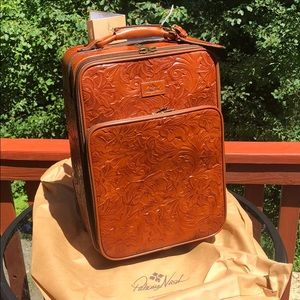 Patricia Nash Tooled Large Trolley Carry-on NWT